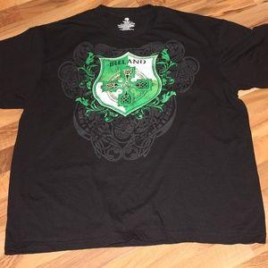 Ireland Coat of Arms T Shirt Black XL Size 46-48